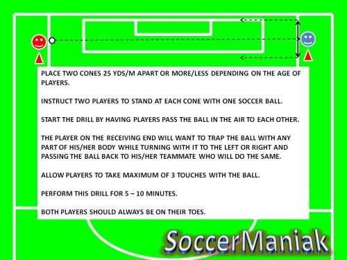 soccer trapping drills,trap a soccer ball,drill soccer trapping,trapping soccer drills,soccer trapping flighted ball