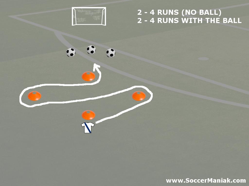 Soccer Agility Drills - Diamond Cones