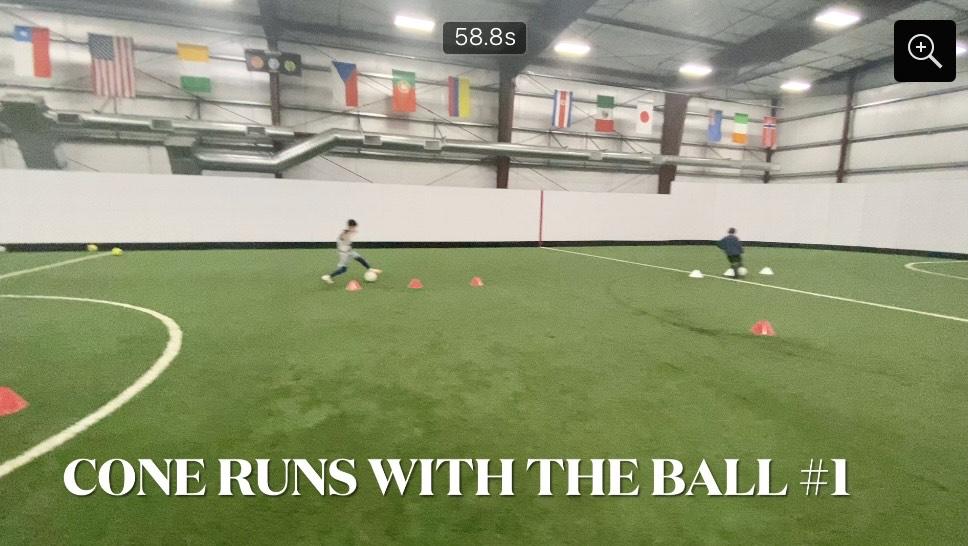 Soccer Skills Training - Cones