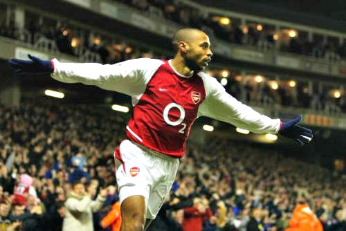 arsenal legends,henry arsenal,top arsenal legends,famous arsenal footballers,arsenal best players
