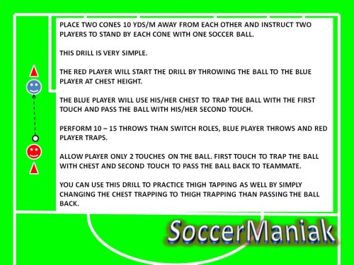 Passing and Trapping Soccer Drills
