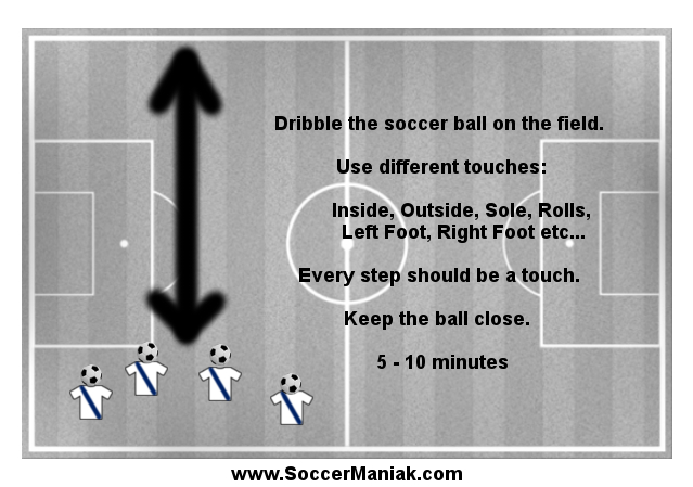 Soccer Warm Up with Ball